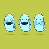 Non vedi fantasma non sentire fantasma non parlare fantasma Fotografia Stock