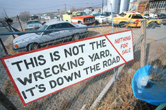 Non-wrecking yard Stock Image