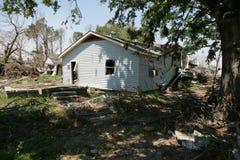 Nona divisão para casa danificada Fotografia de Stock