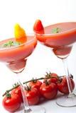 Nonalcoholic coctail som göras av tomatfruktsaft Royaltyfri Bild