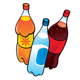 Nonalcoholic Drinks. In plastic bottles Royalty Free Stock Photography