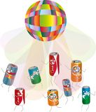 Noname bottles in the disco royalty free illustration