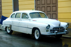Noname retro vehicle, chrome and wheels Royalty Free Stock Photo
