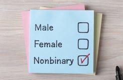 Nonbinary hommes-femmes Photographie stock libre de droits
