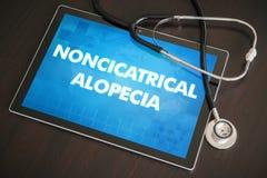 Noncicatrical alopecia (cutaneous disease) diagnosis medical con Royalty Free Stock Image