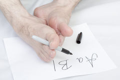Nonconformist handwriting. Stock Photos