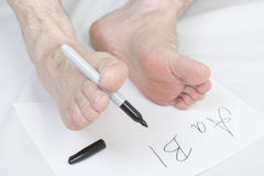 Nonconformist handwriting. stock photo