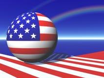 американская карта глобуса Стоковая Фотография