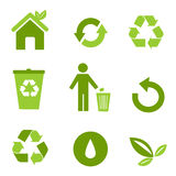 περιβαλλοντικά εικονίδ& Στοκ Φωτογραφίες