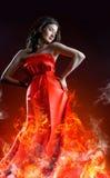 Μακρύ φόρεμα Στοκ εικόνα με δικαίωμα ελεύθερης χρήσης