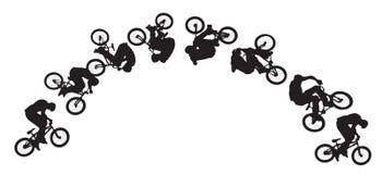 自行车跳的顺序 免版税库存照片