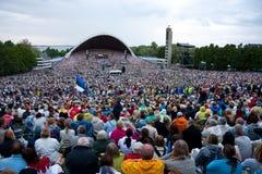 爱沙尼亚语节日国民歌曲 图库摄影
