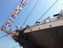 弓船 库存照片