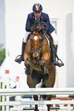 骑马跳的显示 图库摄影