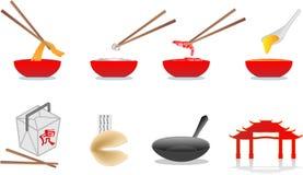 китайская иллюстрация еды Стоковые Изображения