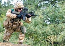 βρετανικός στρατιώτης Στοκ φωτογραφίες με δικαίωμα ελεύθερης χρήσης
