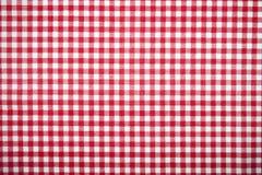 таблица красного цвета картины решетки ткани Стоковые Изображения