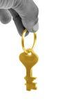 золотистый ключ Стоковые Изображения
