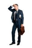 утомлянный бизнесмен Стоковые Фото