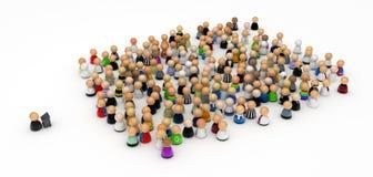 речь публики толпы шаржа Стоковое Изображение RF
