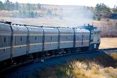 τραίνο υπερσιβηρικό Στοκ Φωτογραφίες