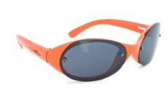 橙色太阳镜 库存照片