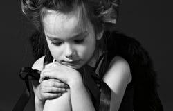 άγγελος λίγα λυπημένα Στοκ Φωτογραφία