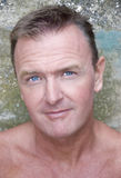 性感四十年代英俊的人 免版税库存照片