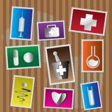 штемпель почтоваи оплата иконы медицинский Стоковое фото RF
