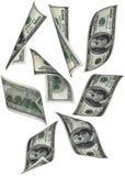 деньги падения Стоковое Изображение