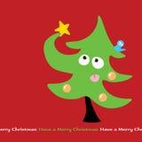 圣诞节奋斗结构树 库存图片