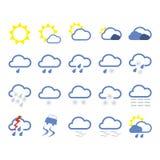 图标天气 库存照片