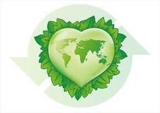 πράσινη καρδιά Στοκ εικόνα με δικαίωμα ελεύθερης χρήσης