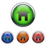 光滑的家庭符号图标(向量) 免版税库存图片