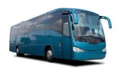 水色蓝色公共汽车浏览 免版税图库摄影
