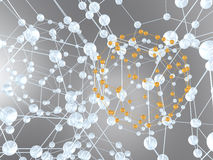 абстрактная конструкция химии Стоковое Изображение RF