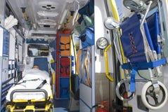 救护车事故设备通信工具 免版税库存图片