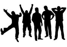 вектор силуэта людей Стоковая Фотография RF