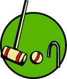 калитка вектора мушкела игры крокета шарика Стоковая Фотография RF