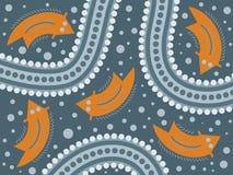 аборигенное абстрактное искусство Стоковое Изображение