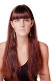 长期女孩头发年轻人 免版税库存照片
