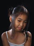亚洲女孩微笑 免版税库存图片