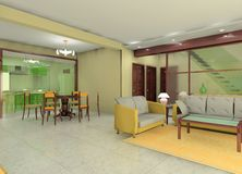 комната конструкции живущая Стоковые Изображения