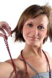 纵向肉欲的妇女年轻人 免版税库存图片