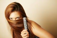 亚裔美丽的妇女 免版税库存照片