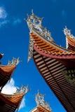 中国房檐寺庙 库存图片