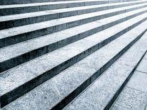 黑色步骤石头白色 免版税库存图片