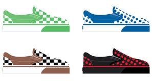 Цветастые иллюстрации ботинка Стоковая Фотография RF