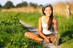 женщина тренировки Стоковая Фотография RF