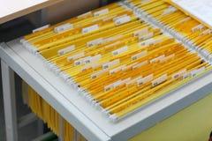 机柜文件 库存照片
